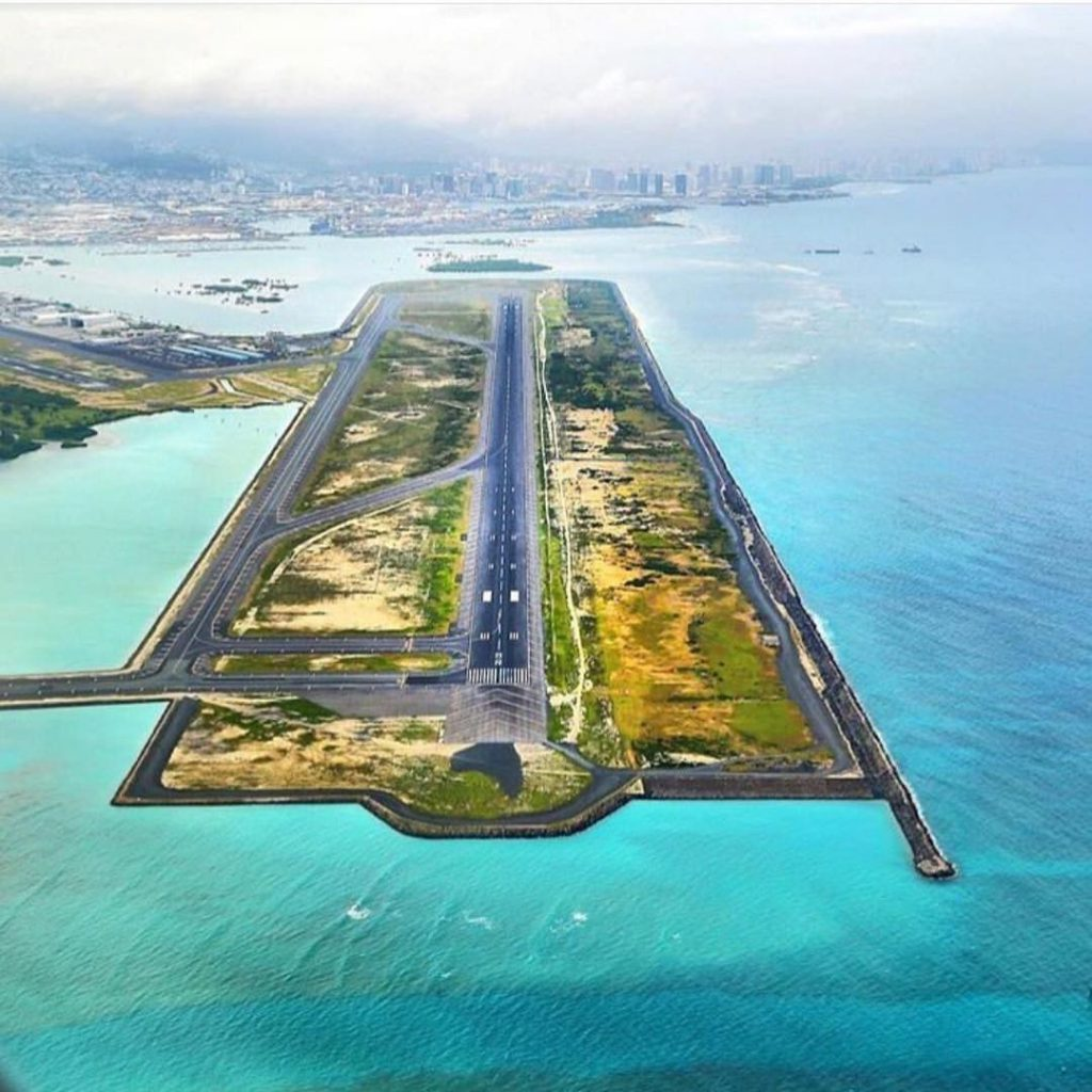 HNL reef runway Oahu Hawaii